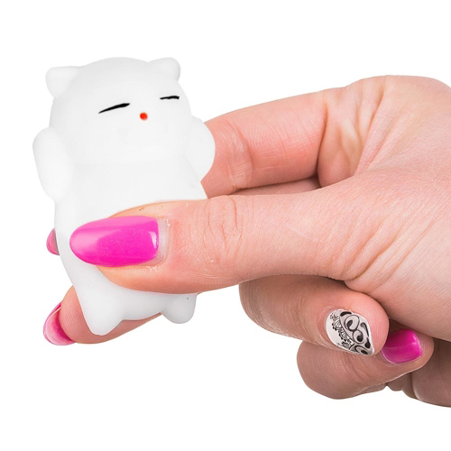 Squishy Cat Stress Relief : Silicone White Cat, Squishy Stress Relief Toy ? All Gadgets ? ????????? ?????????? Gadgets